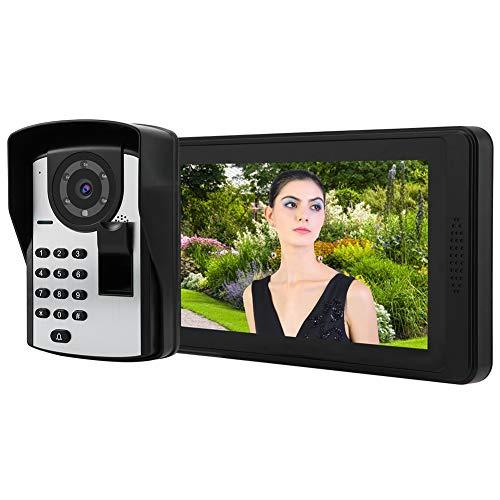 Jacksing Teléfono de Puerta Impermeable, videoportero con contraseña de Alta(European Standard (110-240V))