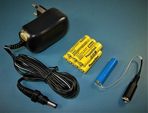 AAA Micron Batterie - Netzteil Adapter - Universal Set 3-12V