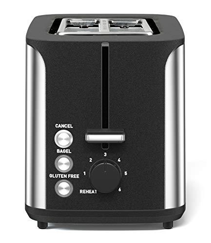 Toaster 2 Slice, Extra Wide Slot, Stainless Steel, 7 Browning Shade Settings, Bagel/Cancel/Gluten-Free/Reheat Function, 900 Watt