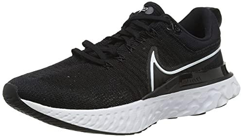 Nike W React Infinity Run FK 2, Zapatillas para Correr Mujer, Black White Iron Grey, 42.5 EU