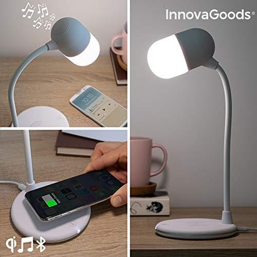 InnovaGoods LED-lamp met luidspreker en draadloze oplader Akalamp, wit