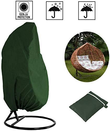 MAQRLT Egg Chair Cover, Outdoor-Schaukel Stuhl Eggshell Dust Cover 210D Grün Rattan-Schwingen-Abdeckung