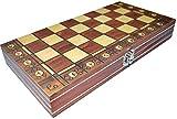 OWZSAN Juego de Mesa Juego de Ajedrez Portátil Tablero Plegable de Tablero de Ajedrez for la Fiesta de la Familia Ajedrez (tamaño: Extra Grande) Juego de ajedrez