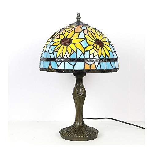 ZHAOH Lámpara de mesa retro moderna y simple protección de ojos 12 pulgadas lámpara de mesa de cristal lámpara de pared decorativa