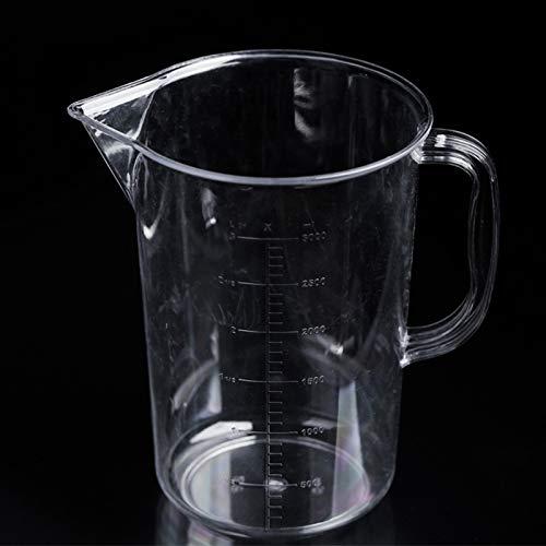 Outils de cuisine LZW de PP en plastique Flask double face Balance Cylindre Coupe de mesure numérique Mesure Outils de verre de laboratoire Lab (Transparent) Cuillère de mesure de laboratoire Outils d