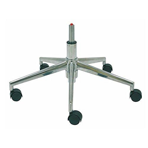 La Silla de Claudia - Base silla oficina 5 radios metal aluminio repuesto para sillas de escritorio giratorias 50 mm / 65 cm diámetro