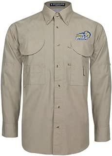 Southeastern Oklahoma State Khaki Long Sleeve Performance Fishing Shirt 'New Primary Logo Embroidery'