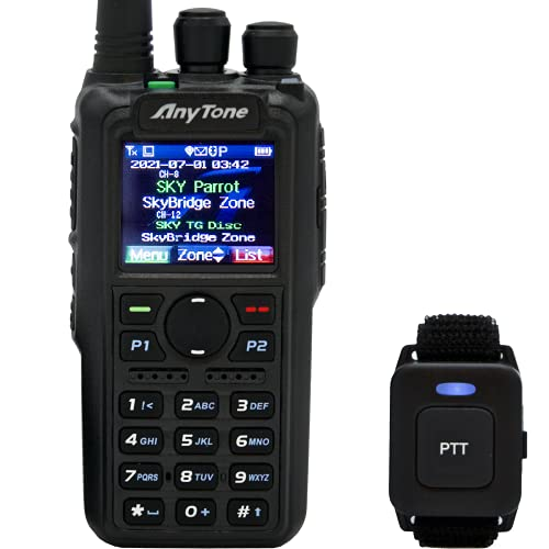 AnyTone AT-D878UVII Plus - Dual Band Analog/DMR - Bluetooth PTT - APRS...