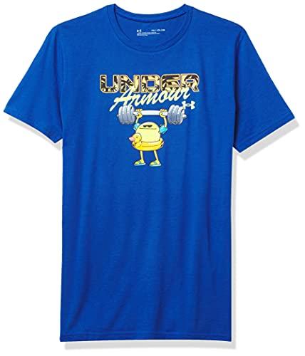 Under Armour Boys' Summer Pack Lift Short Sleeve T-Shirt , Tech Blue (432)/High-Vis Yellow , Youth Medium