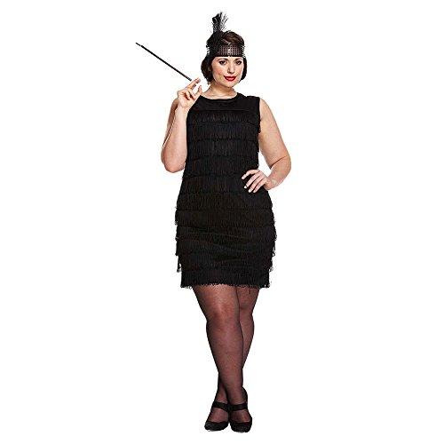 Flapper Girl Plus Size Fancy Dress Costume (Black)