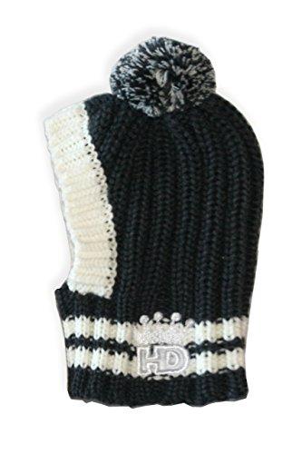 Hip Doggie HD-7CPG-M Crown Knit Hat - Hundehut, M, grau