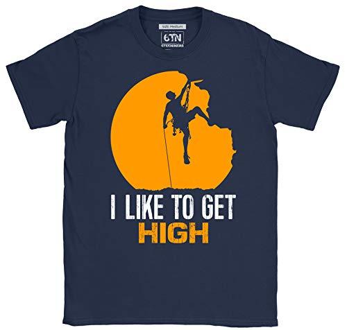 6TN Hombre Camiseta de Escalada en Roca I Like To Get High...
