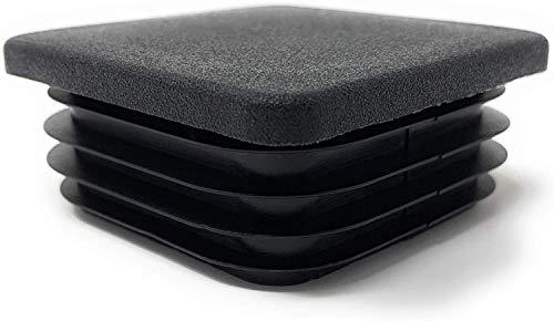 Design61 - Tapones cuadrados para tubos (4 unidades, 80 x 80 mm, con láminas para dimensiones interiores 70-74,2 mm)