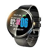 V12 Smartwatch mit farbigem Touch-Screen und Herzfrequenz-Sensor Leichte Fitness Uhr mit Push-Erinnerung SMS-Alert-Push, Bewegungsaufzeichnungen (Schritt, Kilometerstand), Schlafüberwachung...
