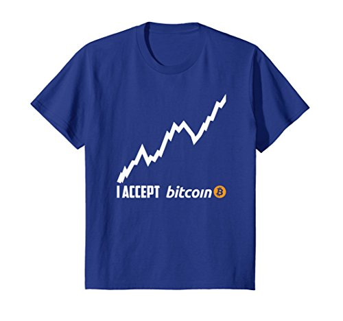 I Accept Bitcoin Millionaire Digital Cryptocurrency T-Shirt