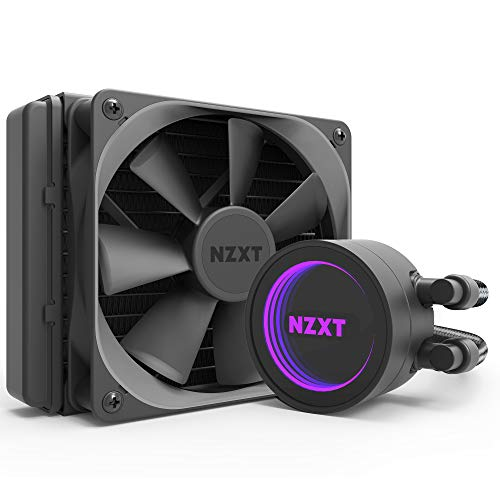 NZXT Kraken M22 120mm - RL-KRM22-01 - AIO RGB CPU Liquid Cooler - CAM-Powered - Infinity Mirror Design - Reinforced Extended Tubing - Aer P120mm PWM Radiator Fan (Included) Black
