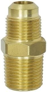 NIGO Brass Tube Fitting, Half-Union, Flare x NPT Male Pipe (1, 1/4