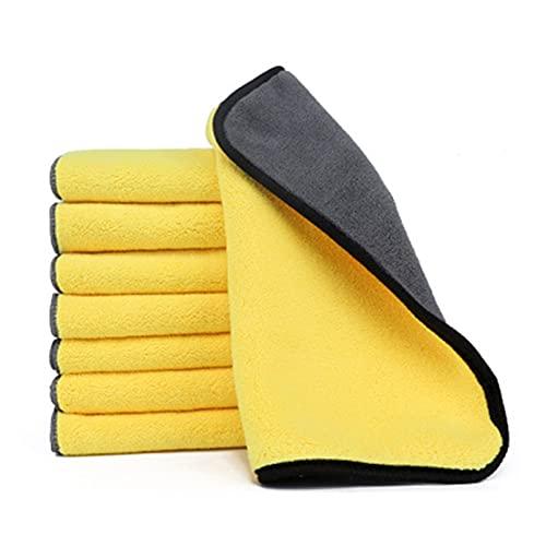 10 unids lavado de autos toalla de microfibra automática tela de automóvil limpieza de la ventana de la ventana Cuidado de la ventana gruesa absorción de agua fuerte para los accesorios para el hogar