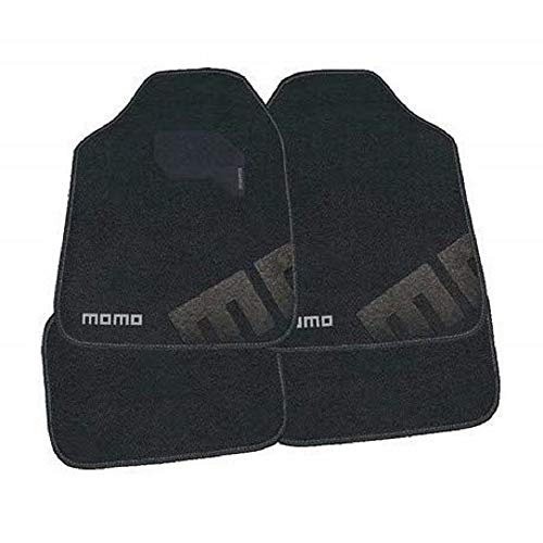 MOMO MOMLCM007BG Alfombras Universal para Automóviles, Negro/gris
