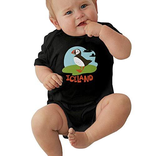 Puffin Animals of Iceland Set Baby Kurzarm Neugeborene Mädchen Krabbelanzug Jumpsuit Gr. 12 Monate, weiß