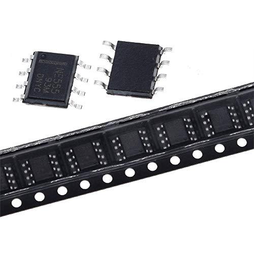 AN-JING Ersatzteile 10PCS / Lot NE555 NE555N 555 NE555DR NE555DT SMD-Chip-SOP-8 Zeitschaltungschip programmierbarer Oszillator IC Timer Accessory