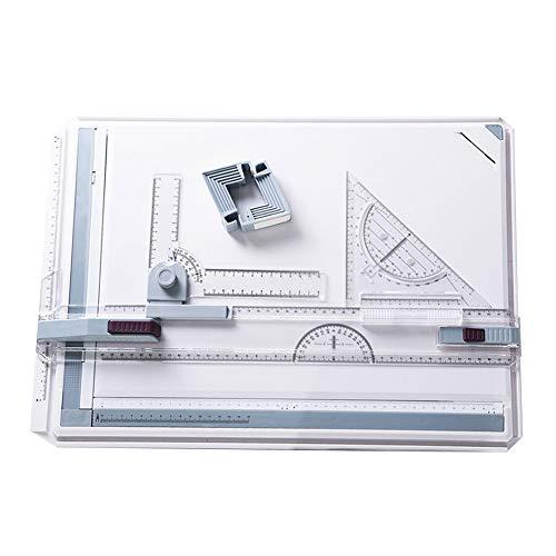 Lfhing - Tablero de dibujo (A3, con sistema de medición de ángulo de movimiento paralelo)