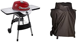 Char-Broil Electric Patio Bistro 240 - Red with Patio Bistro Cover