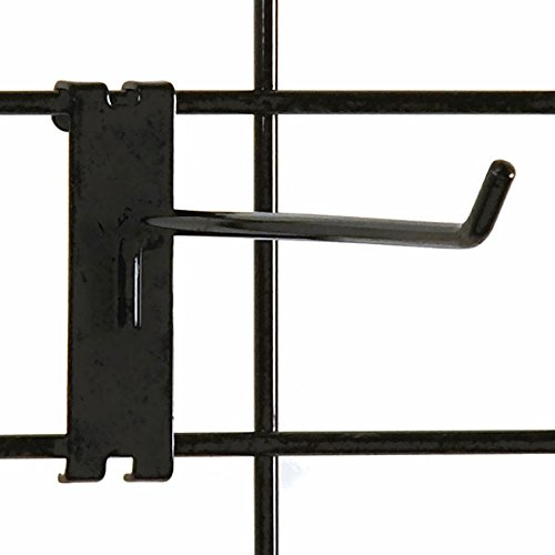 2 Gridwall Hooks For Grid Panel Display Chrome Color 1//4 Dia Wire 50 Pcs Box Standard Duty