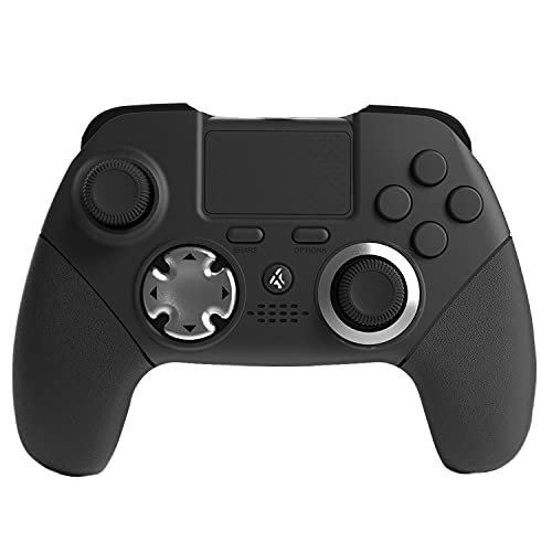 PS4 Elite Wireless Controller, 6 Axis Sensor Modded Dual Vibration Elite PS4/PS3 Game Controller with 4 Back Paddles for FPS Games