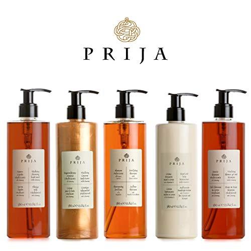 Prija XXL Set 5x 380ml Flüssigseife, Haut & Haarshampoo, Bodylotion, Duschgel,