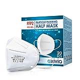 FFP2 Maske Atemschutzmaske CE-Zertifiziert - Box 20 Stück - Einzelbeutel - Mit adaptierbarem Nasenbügel| 5 Filtrationsdicke - Standardmaske nach EN 149: 2001+A1: 2009 - Modell Dr.Family