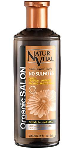 NaturVital Champú Organic Salon Sin Sulfatos Cuidado Delicado 300 ml