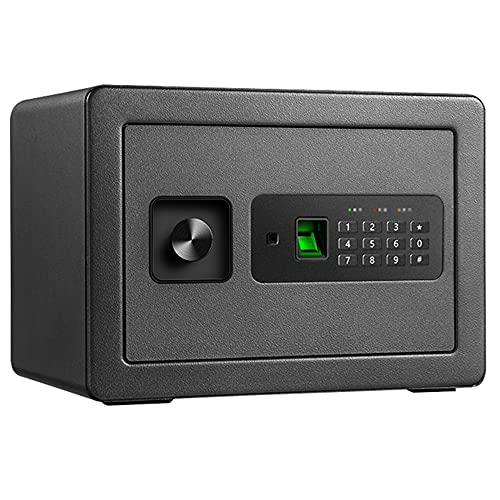Caja fuerte de seguridad, caja fuerte con contraseña electrónica, caja fuerte para el hogar/hotel/viaje, material totalmente de acero/Negro / 35cm×25cm×25cm