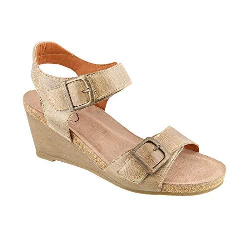 Taos Footwear Women's Buckle Up Stone Sandal 11-11.5 M US