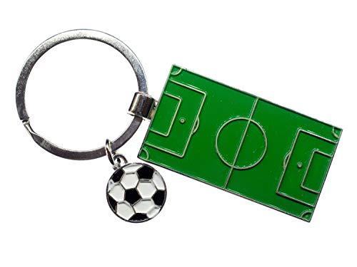 Miniblings Fußballfeld Schlüsselanhänger Anhänger Schlüsselring Kicker Fußball