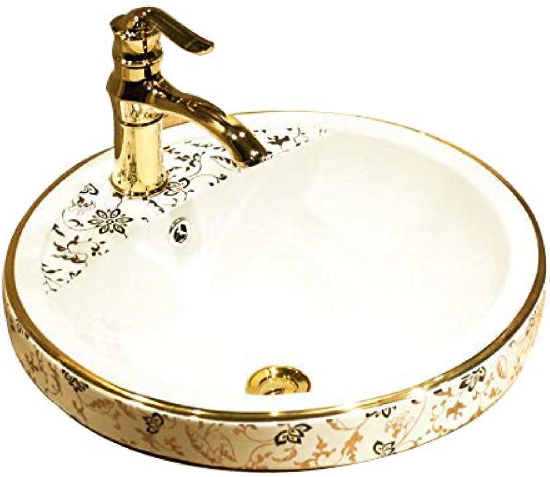 Europisches keramisches halb eingebettetes Waschbecken Nur Waschbecken
