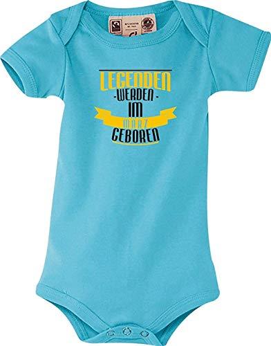 Shirtstown Body Bebé Legenden Werden Im März Nacido - Azul Claro, 12-18 Monate