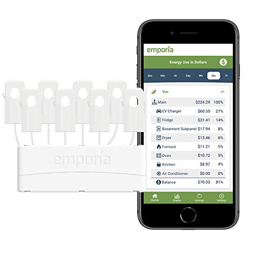 Emporia Expansion Module and 8 Sensors | Add-On ONE module per Emporia Vue Energy Monitor | Track Circuits Without the Guesswork