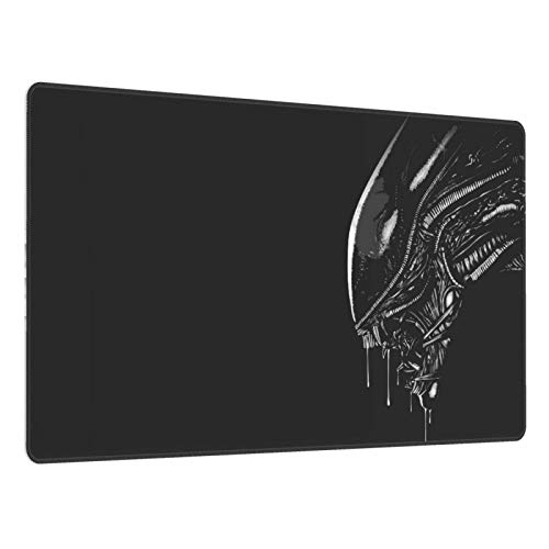 Gaming Mouse Pad,Alien Face , Long Extended Surface for Desktop Pc Computer Work Productivity Or Video Games, Laser Accuracy for Fast Responsiveness,16 X 30