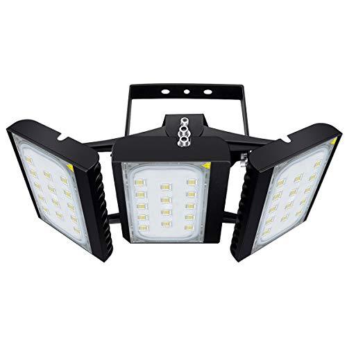 CHICLUX LED Outdoor Leuchte für Garagen, 27000 LM, 6000K (Tageslichtweiß) Sicherheits-Flutlicht, 300W Scheinwerfer mit verstellbarem Kopf für Scheune, Patio, Hof