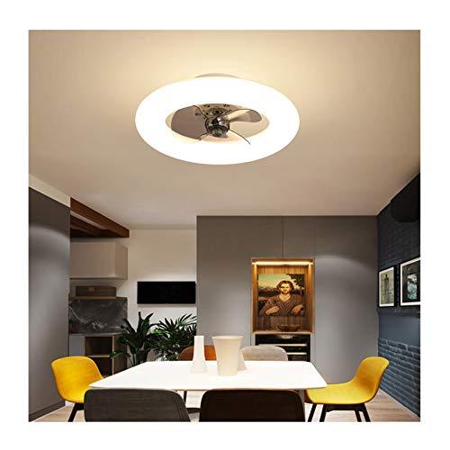 HAUSELIEBE Ventilador de Techo LED con Luz Y Mando a Distancia, 3 Hoja, Regulable en 3 Colores, 96W, Ajustable Lámpara de Techo con Temporizador, Silencioso para Salón 50cm