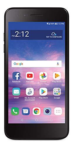 Total Wireless LG Rebel 4 4G LTE Prepaid Smartphone (Locked) - Black - 16GB - Sim Card Included - CDMA