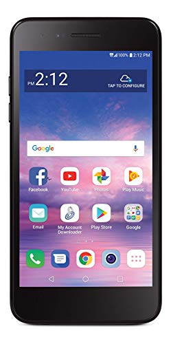 Total Wireless LG Rebel 4 4G LTE Prepaid Smartphone (Locked) - Black - 16GB - Sim Card Included - CDMA