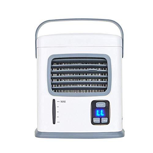 BJLWTQ Humidificador for Personal Mesa de Escritorio del Ventilador mesita de Noche del Dormitorio Oficina Espacio refrigerador de Aire portátil USB Mini acondicionador de Aire del Ventilador (Color: