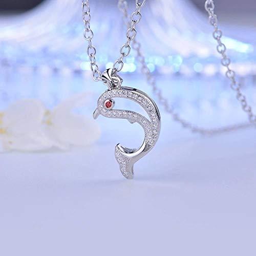 Zbeiba prachtige vakmanschap! Handgemaakte s925 sterling zilveren mode dolfijnen met diamanten kettingen betekenis om geluk te brengen