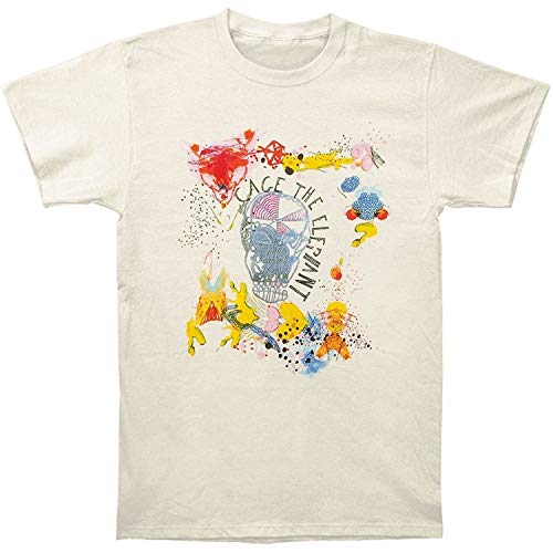 CHENYINJJ Cage The Elephant Ih-33-B Hombre Comfortable Cotton Short Sleeve Camiseta Tshirt