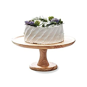 9inches/22.5cm Wood Cake Dessert Stand  Round Cupcake Holder Wedding Birthday Party Pedestal Display Plate
