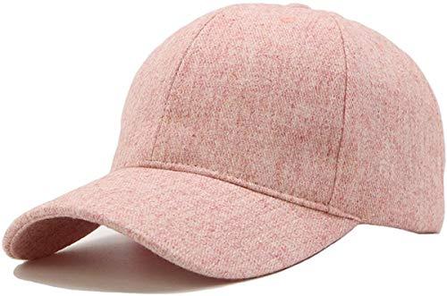 Goed ontworpen Verstelbare Size Unisex Wol Blend Pet Van Het Honkbal Effen Kleur For Winter Warm P Goed cadeau voor vrienden ap (Color : Pink)