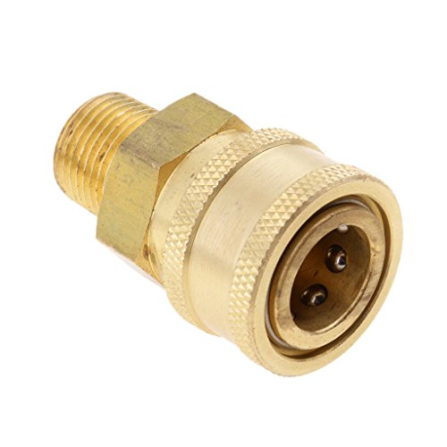 homyl latón manguera Acoplamiento rápido adaptador de acoplamiento con rosca–Female to 3/8Male Socket
