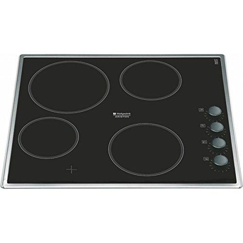 Hotpoint-Ariston KRM 640 X hobs - Placa (Incorporado, indución eléctrica, Vidrio y cerámica, Giratorio, Arriba a la derecha, 6700W) Negro